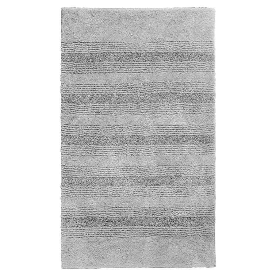 Garland Rug Essence 40-in x 24-in Platinum Gray Nylon Bath Rug