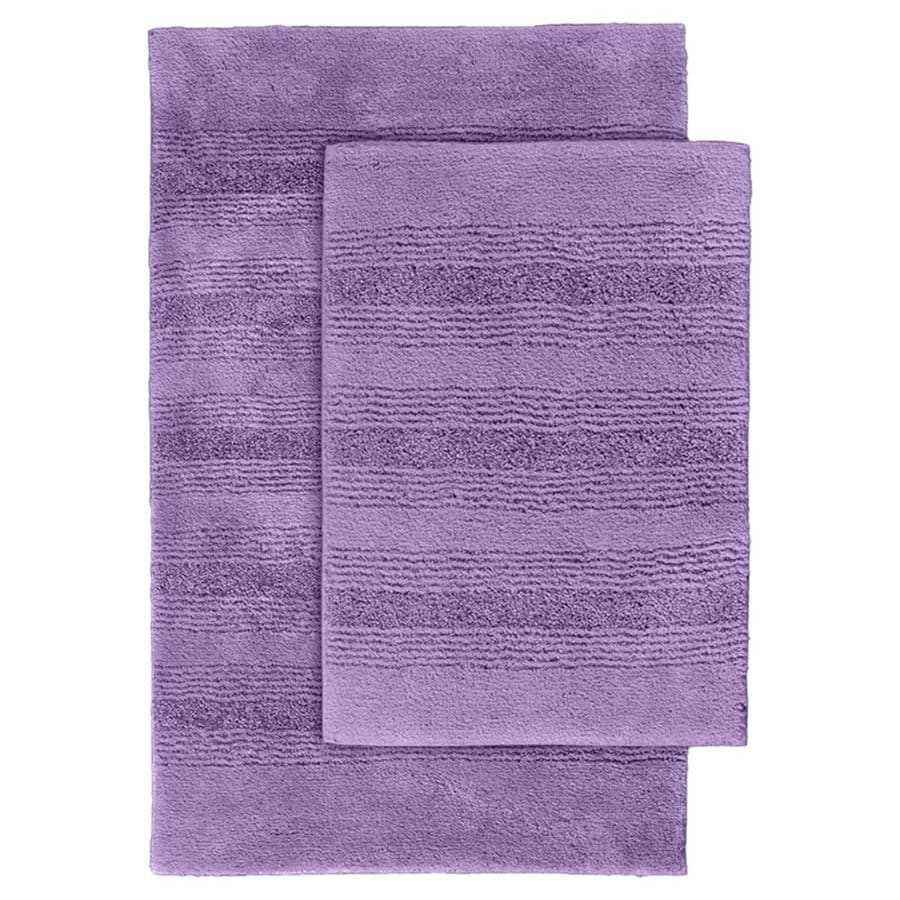 Garland Rug Essence Set of 2 Purple Nylon Bath Rug