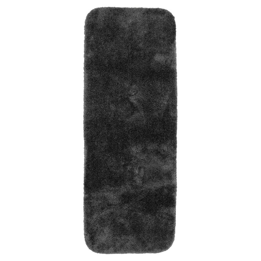 Garland Rug Finest Luxury 60-in x 22-in Dark Gray Nylon Bath Rug