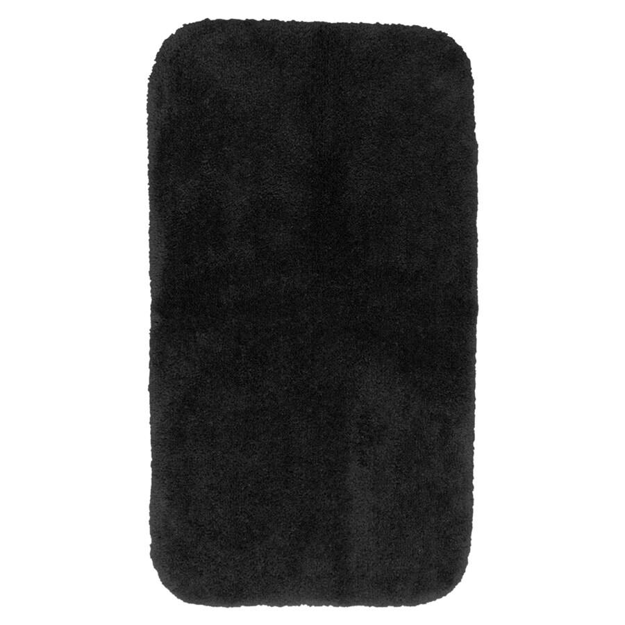 Garland Rug Finest Luxury 50-in x 30-in Black Nylon Bath Rug