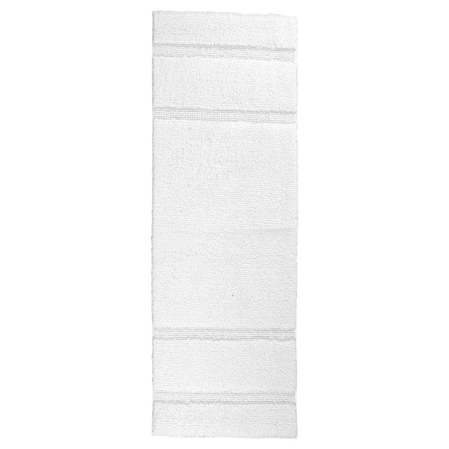 Garland Rug Majesty 60-in x 22-in White Cotton Bath Rug