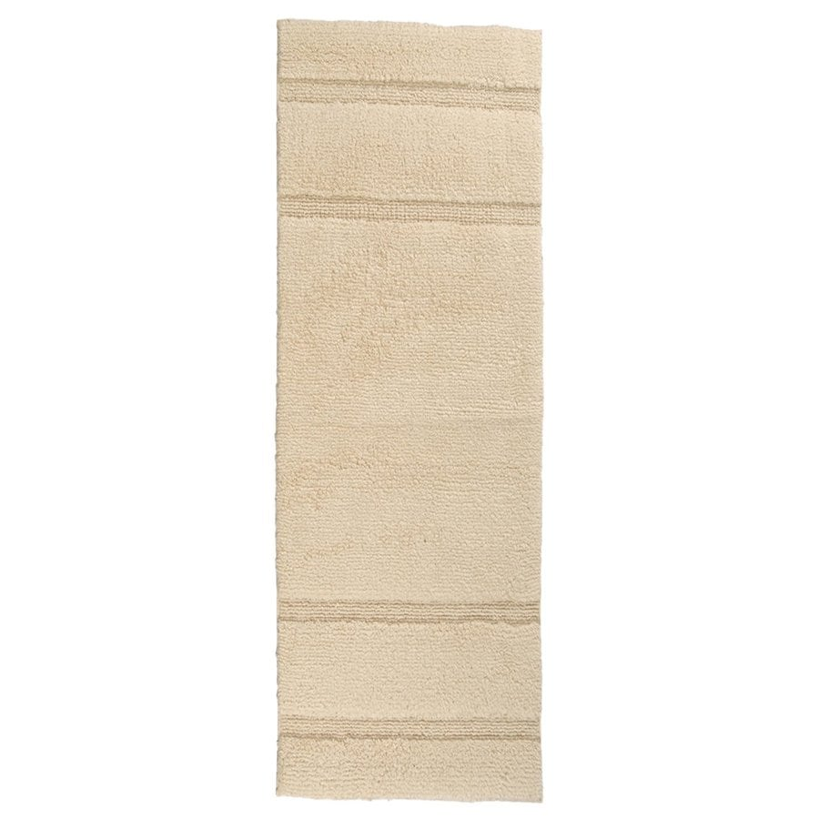 Natural Bathroom Rugs: Garland Rug Majesty 60-in X 22-in Natural Cotton Bath Rug