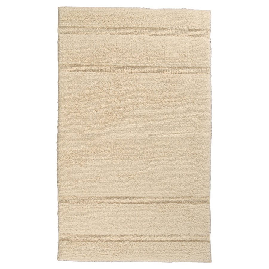Natural Bathroom Rugs: Garland Rug Majesty 40-in X 24-in Natural Cotton Bath Rug