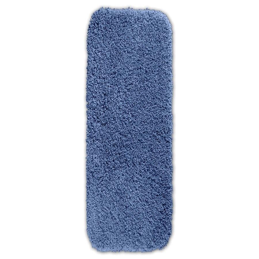 Garland Rug Serendipity 60-in x 22-in Basin Blue Nylon Bath Rug