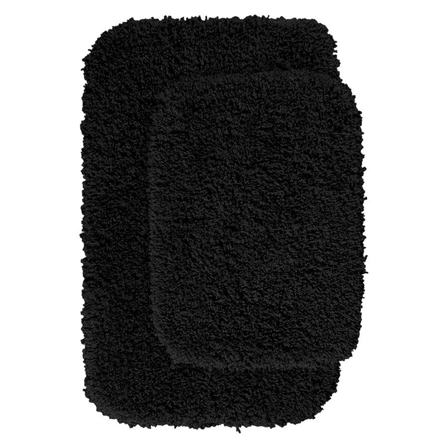 Garland Rug Serendipity Set of 2 Black Nylon Bath Rug