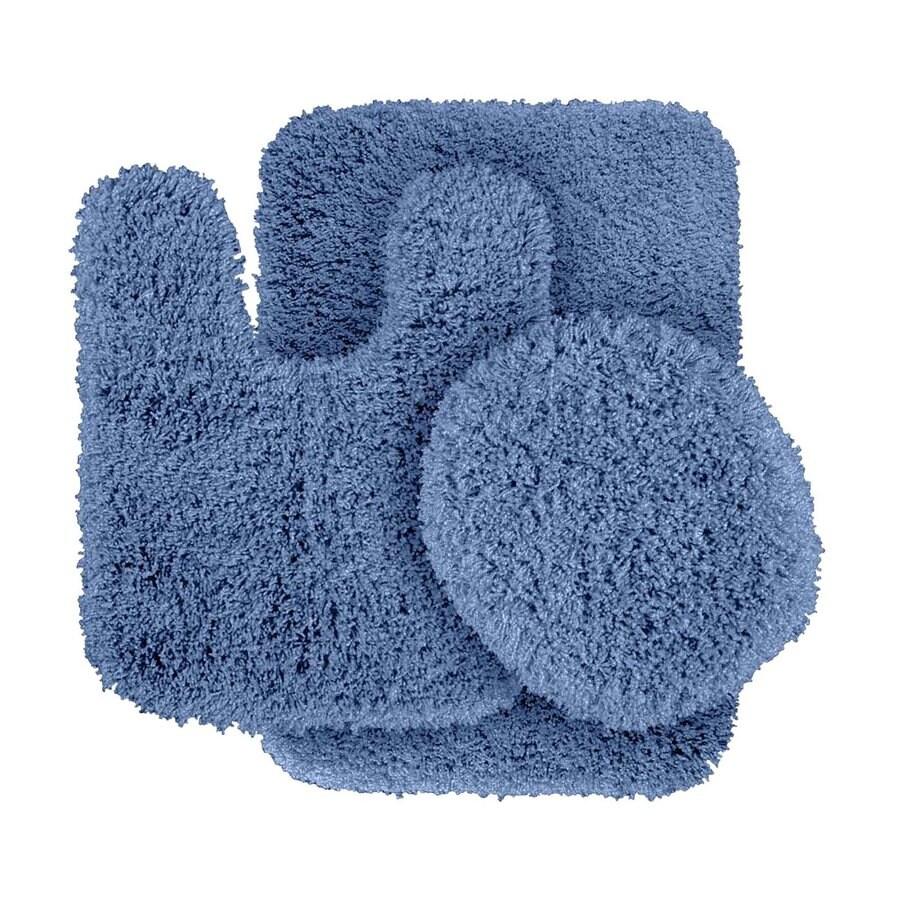 Garland Rug Serendipity Set of 3 Basin Blue Nylon Bath Rug
