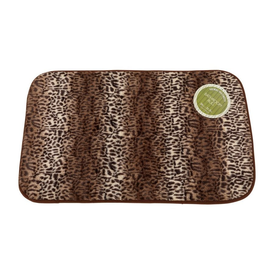 Exceptional Carnation Home Fashions 31 In X 20 In Cheetah Polyester Bath Rug