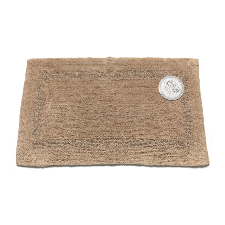 Carnation Home Fashions 24-in x 17-in Reversible Linen Cotton Bath Mat