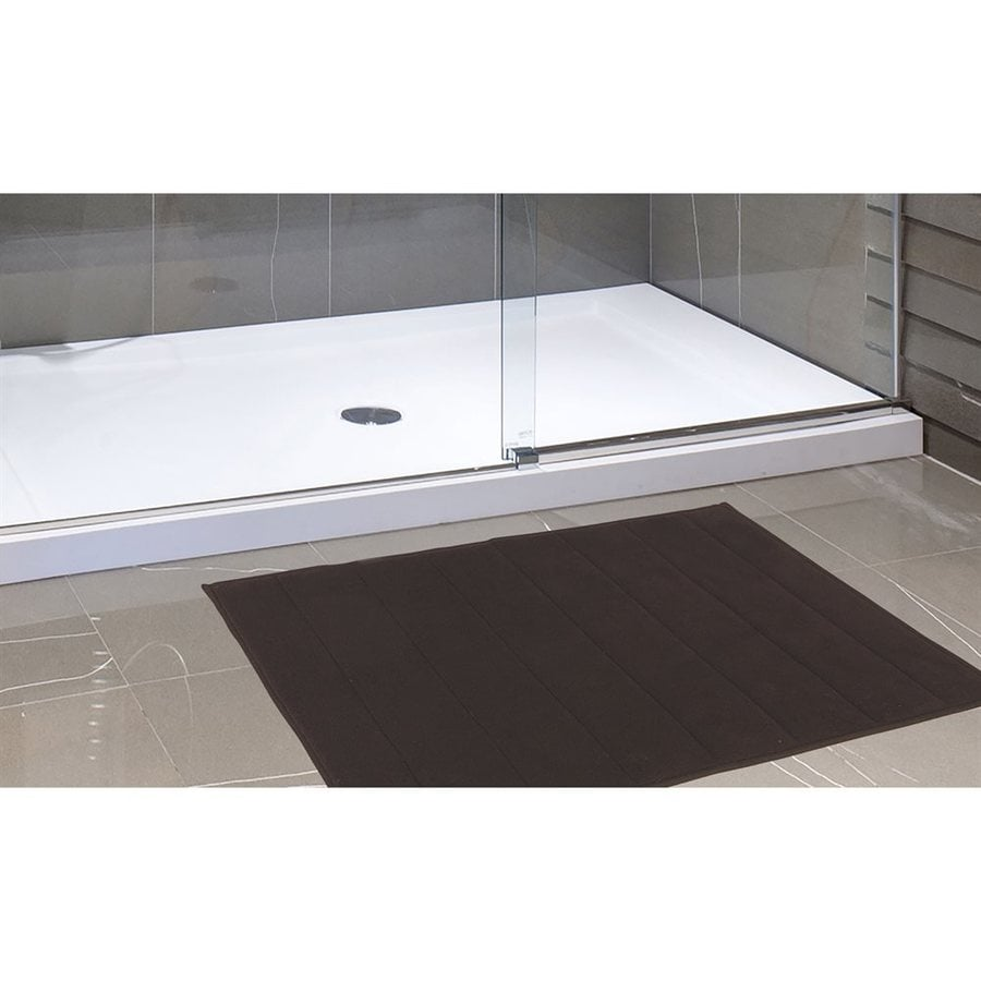 Carnation Home Fashions 34-in x 21-in Brown Polyester Memory Foam Bath Mat