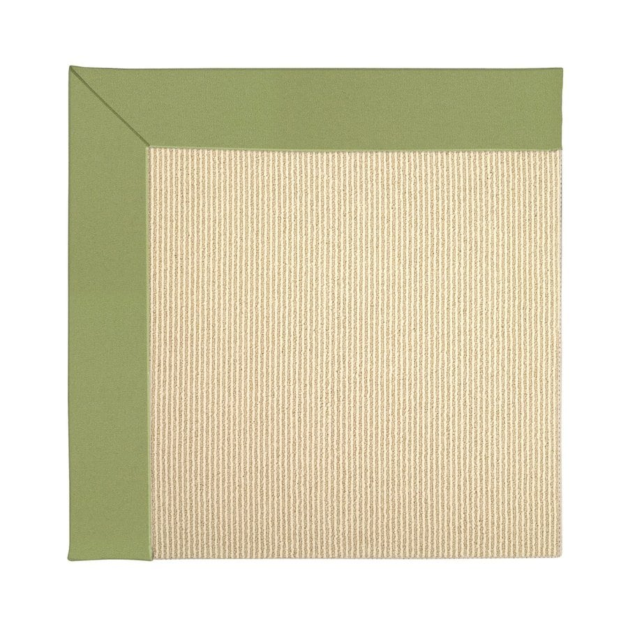 Capel Rugs Zoe-Beach Green Square Indoor/Outdoor Area Rug (Common: 6 x 6; Actual: 6-ft W x 6-ft L)