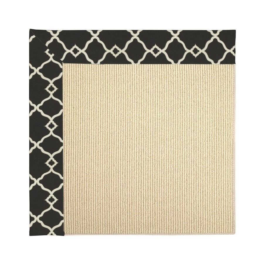 Capel Rugs Zoe-Beach Onyx Square Indoor/Outdoor Area Rug (Common: 6 x 6; Actual: 6-ft W x 6-ft L)