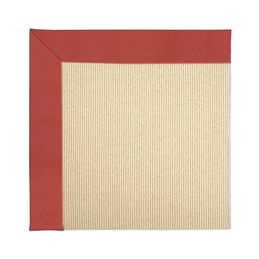 Capel Rugs Zoe-Beach Sunset Red Square Indoor/Outdoor Area Rug (Common: 12 x 12; Actual: 12-ft W x 12-ft L)
