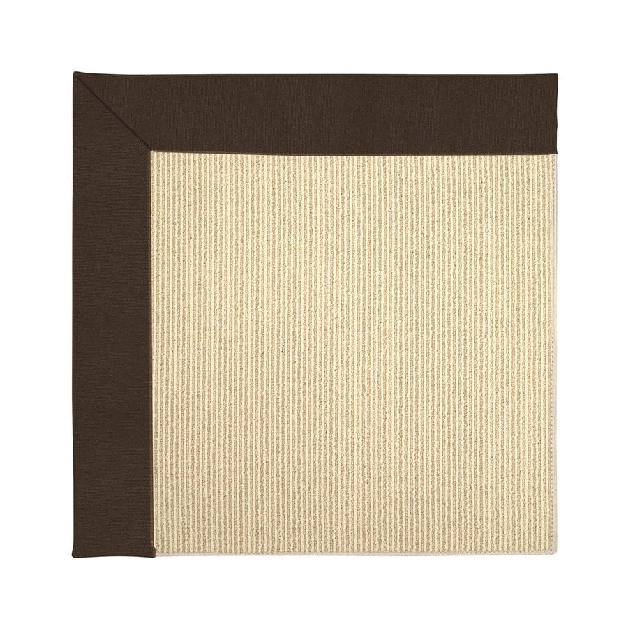 Capel Rugs Zoe-Beach Brown Square Indoor/Outdoor Area Rug (Common: 12 x 12; Actual: 12-ft W x 12-ft L)