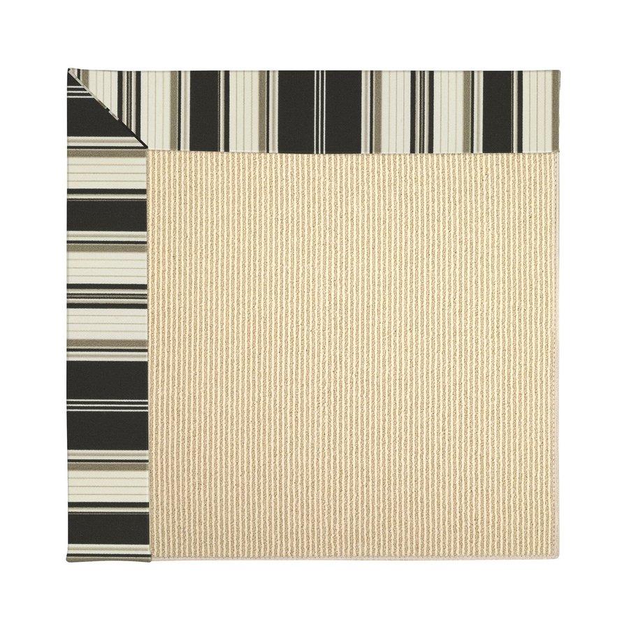 Capel Rugs Zoe-Beach Onyx Stripe Indoor/Outdoor Runner (Common: 2 x 12; Actual: 2.5-ft W x 12-ft L)