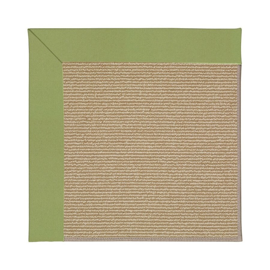 Capel Rugs Zoe-Sisal Green Square Indoor/Outdoor Area Rug (Common: 4 x 4; Actual: 4-ft W x 4-ft L)
