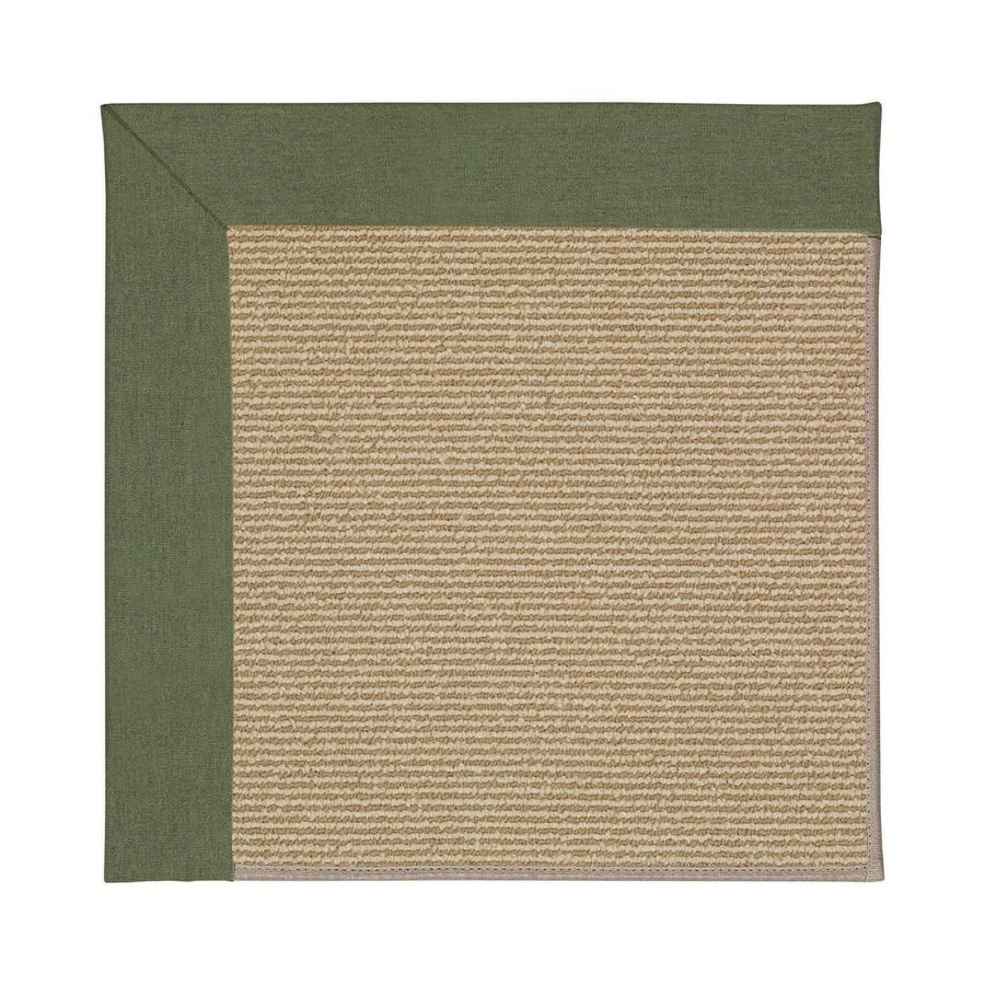 Capel Rugs Zoe-Sisal Plant Green Square Indoor/Outdoor Area Rug (Common: 4 x 4; Actual: 4-ft W x 4-ft L)