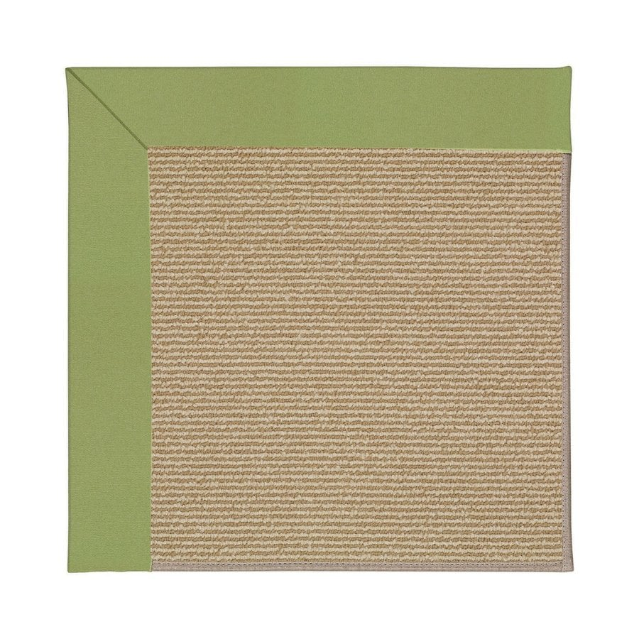 Capel Rugs Zoe-Sisal Green Square Indoor/Outdoor Area Rug (Common: 10 x 10; Actual: 10-ft W x 10-ft L)