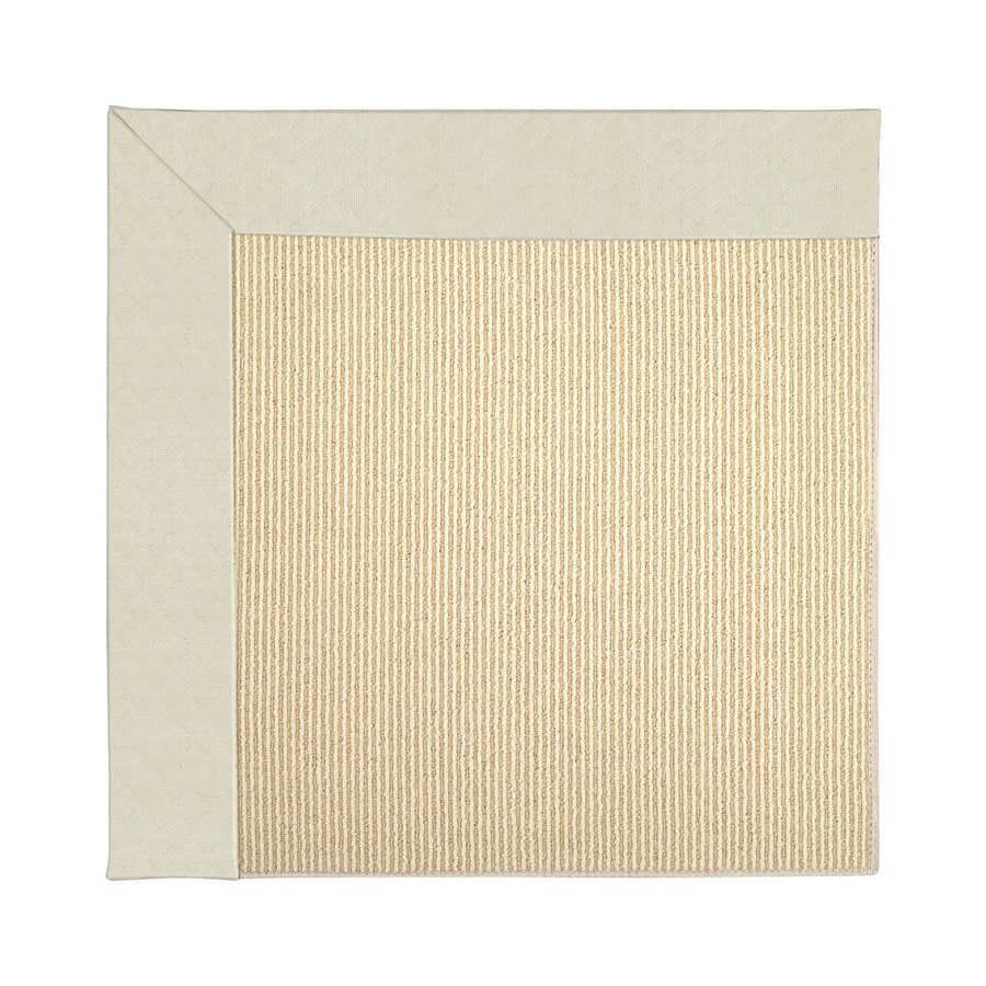Capel Rugs Zoe-Beach Cream Square Indoor/Outdoor Area Rug (Common: 8 x 8; Actual: 8-ft W x 8-ft L)