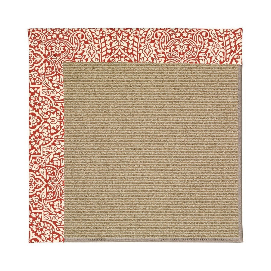 Capel Rugs Zoe-Sisal Cardinal Square Indoor/Outdoor Area Rug (Common: 4 x 4; Actual: 4-ft W x 4-ft L)