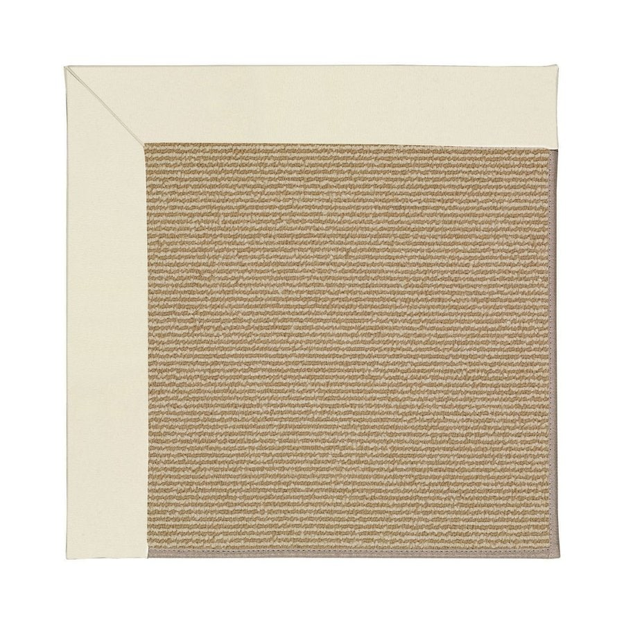 Capel Rugs Zoe-Sisal Alabaster Square Indoor/Outdoor Area Rug (Common: 4 x 4; Actual: 4-ft W x 4-ft L)