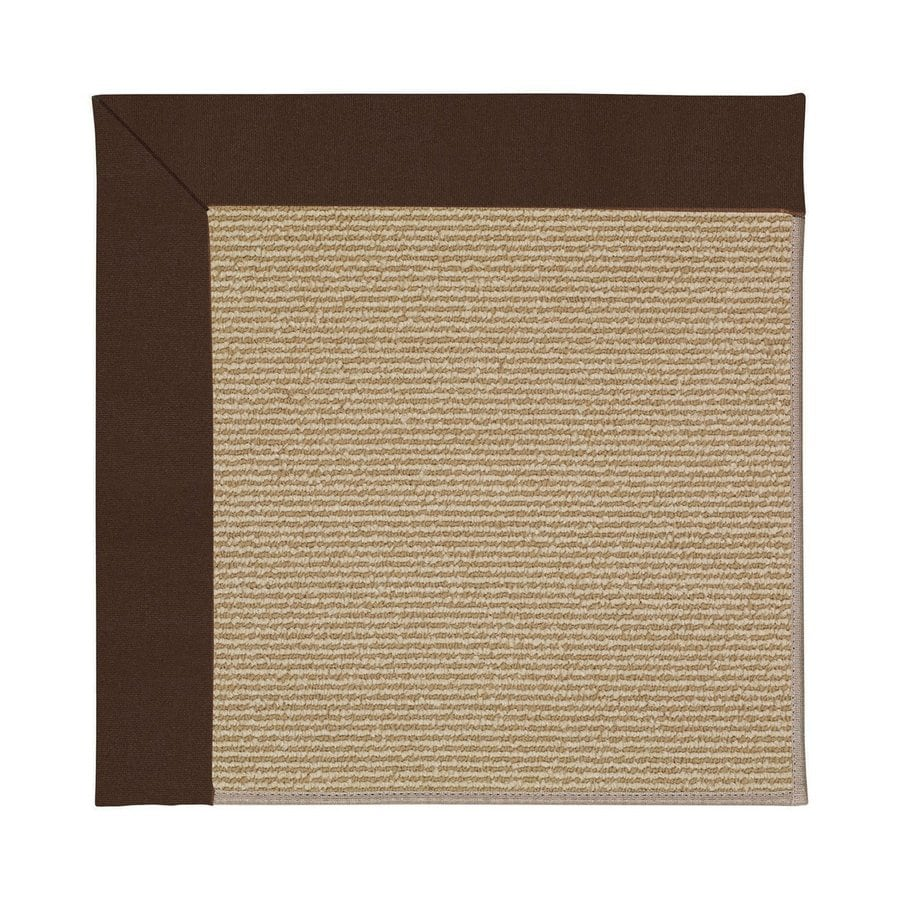 Capel Rugs Zoe Sisal Brown Square Indoor Outdoor Area Rug Common 4