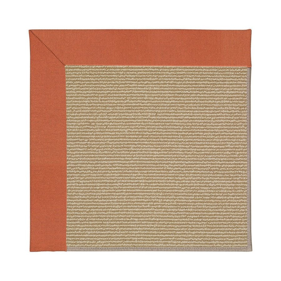 Capel Rugs Zoe-Sisal Clay Square Indoor/Outdoor Area Rug (Common: 4 x 4; Actual: 4-ft W x 4-ft L)