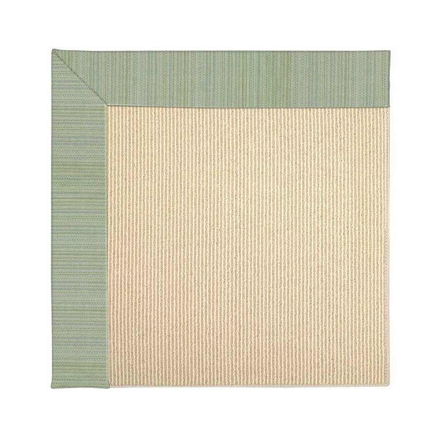 Capel Rugs Zoe-Beach Green Spa Square Indoor/Outdoor Area Rug (Common: 4 x 4; Actual: 4-ft W x 4-ft L)