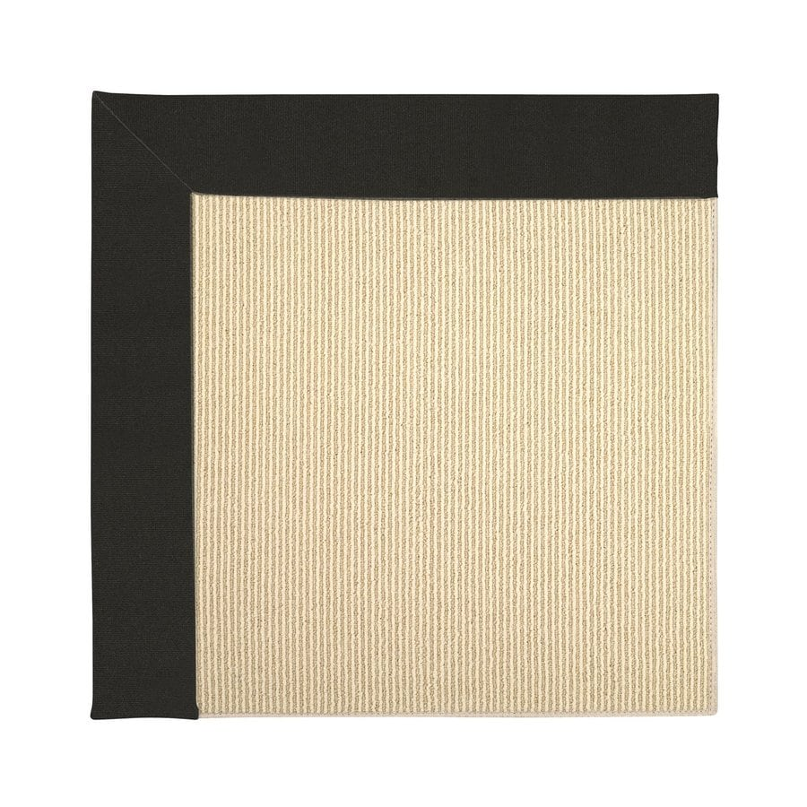Capel Rugs Zoe-Beach Ebony Square Indoor/Outdoor Area Rug (Common: 4 x 4; Actual: 4-ft W x 4-ft L)