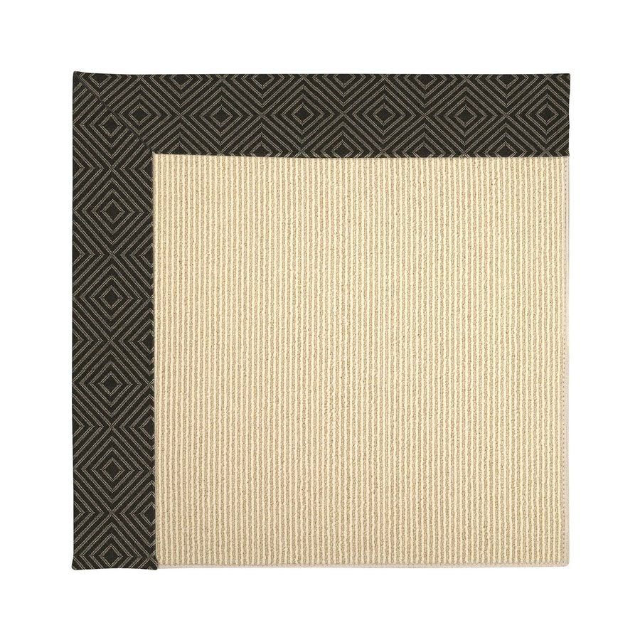 Capel Rugs Zoe-Beach Magma Square Indoor/Outdoor Area Rug (Common: 4 x 4; Actual: 4-ft W x 4-ft L)