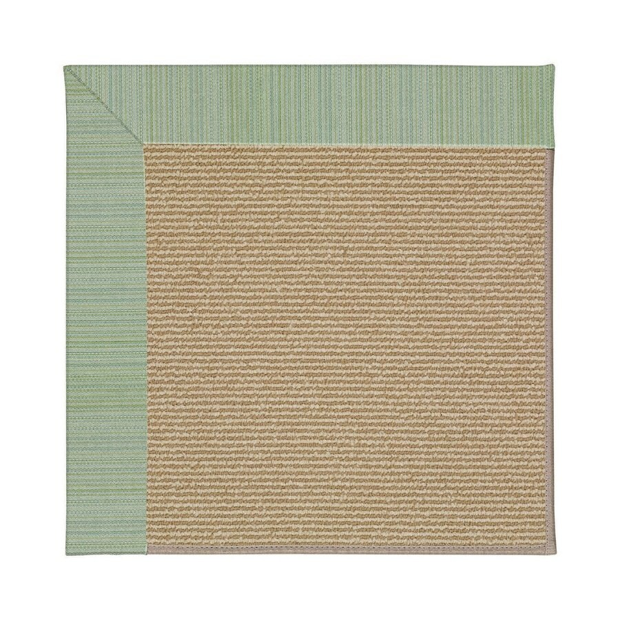 Capel Rugs Zoe-Sisal Green Spa Square Indoor/Outdoor Area Rug (Common: 12 x 12; Actual: 12-ft W x 12-ft L)