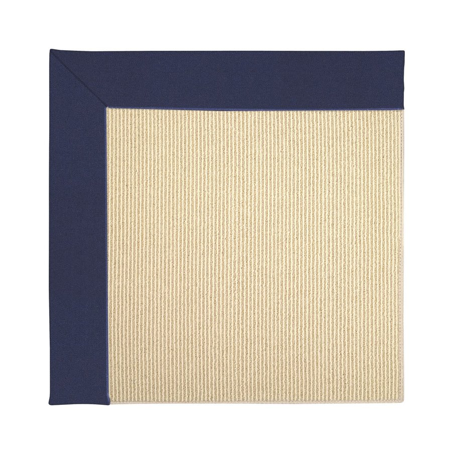 Capel Rugs Zoe-Beach Navy Square Indoor/Outdoor Area Rug (Common: 4 x 4; Actual: 4-ft W x 4-ft L)