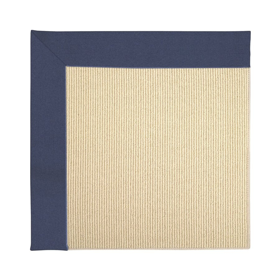 Capel Rugs Zoe-Beach Blue Square Indoor/Outdoor Area Rug (Common: 4 x 4; Actual: 4-ft W x 4-ft L)