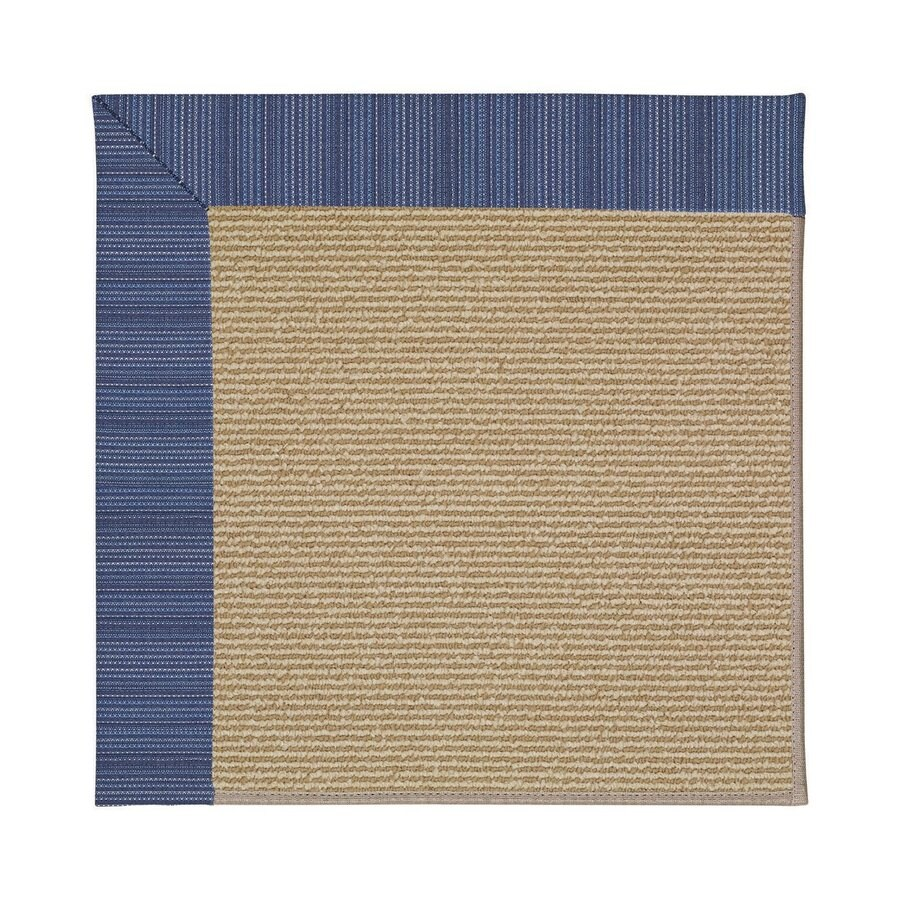 Capel Rugs Zoe-Sisal Navy Stripe Square Indoor/Outdoor Area Rug (Common: 12 x 12; Actual: 12-ft W x 12-ft L)