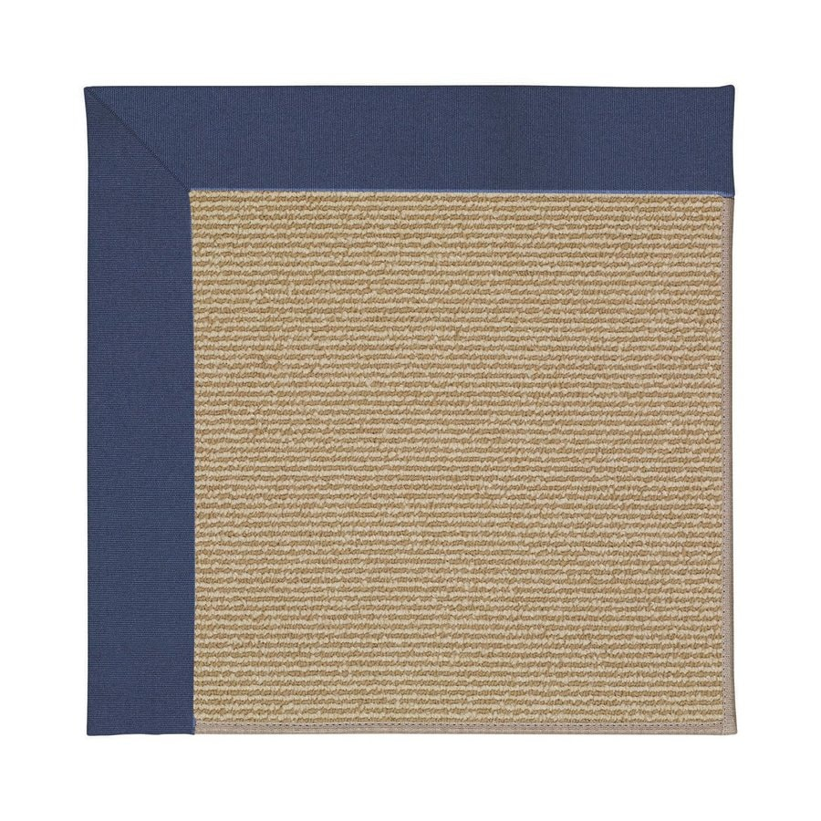 Capel Rugs Zoe-Sisal Blue Square Indoor/Outdoor Area Rug (Common: 12 x 12; Actual: 12-ft W x 12-ft L)
