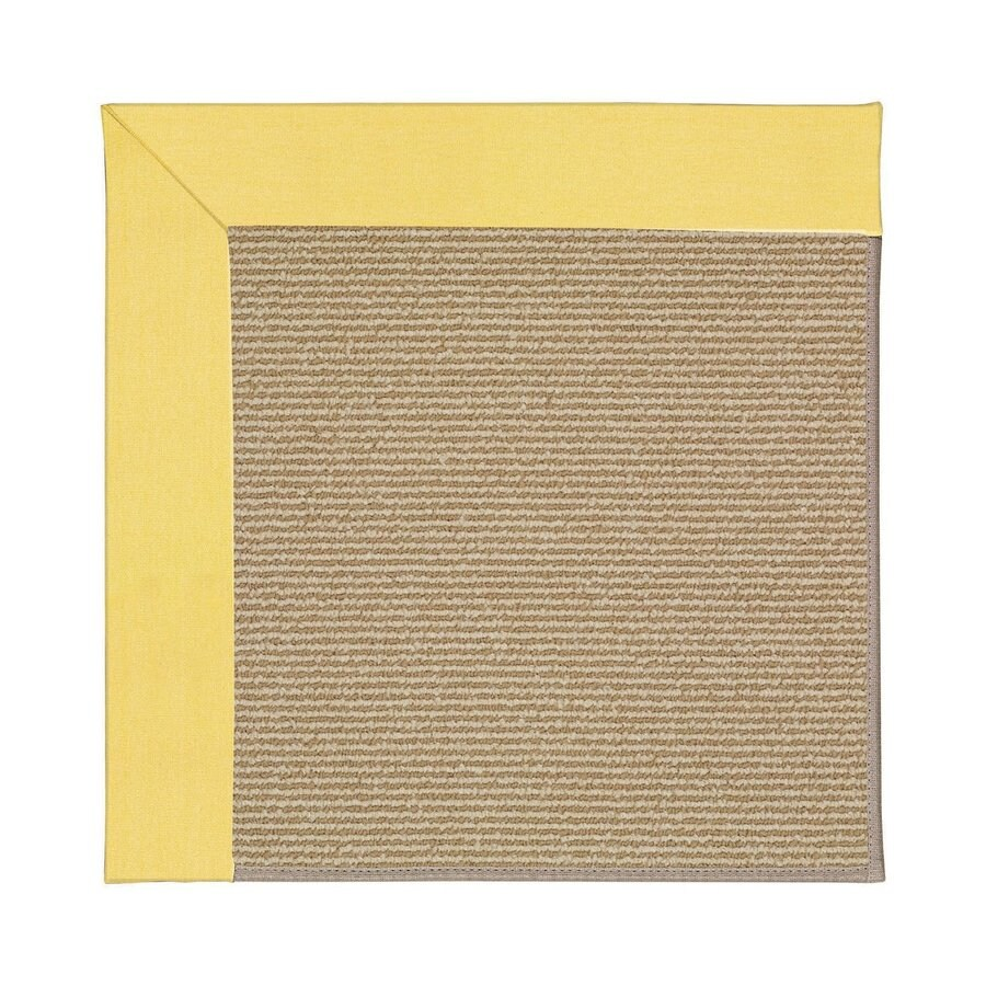 Capel Rugs Zoe-Sisal Yellow Square Indoor/Outdoor Area Rug (Common: 6 x 6; Actual: 6-ft W x 6-ft L)
