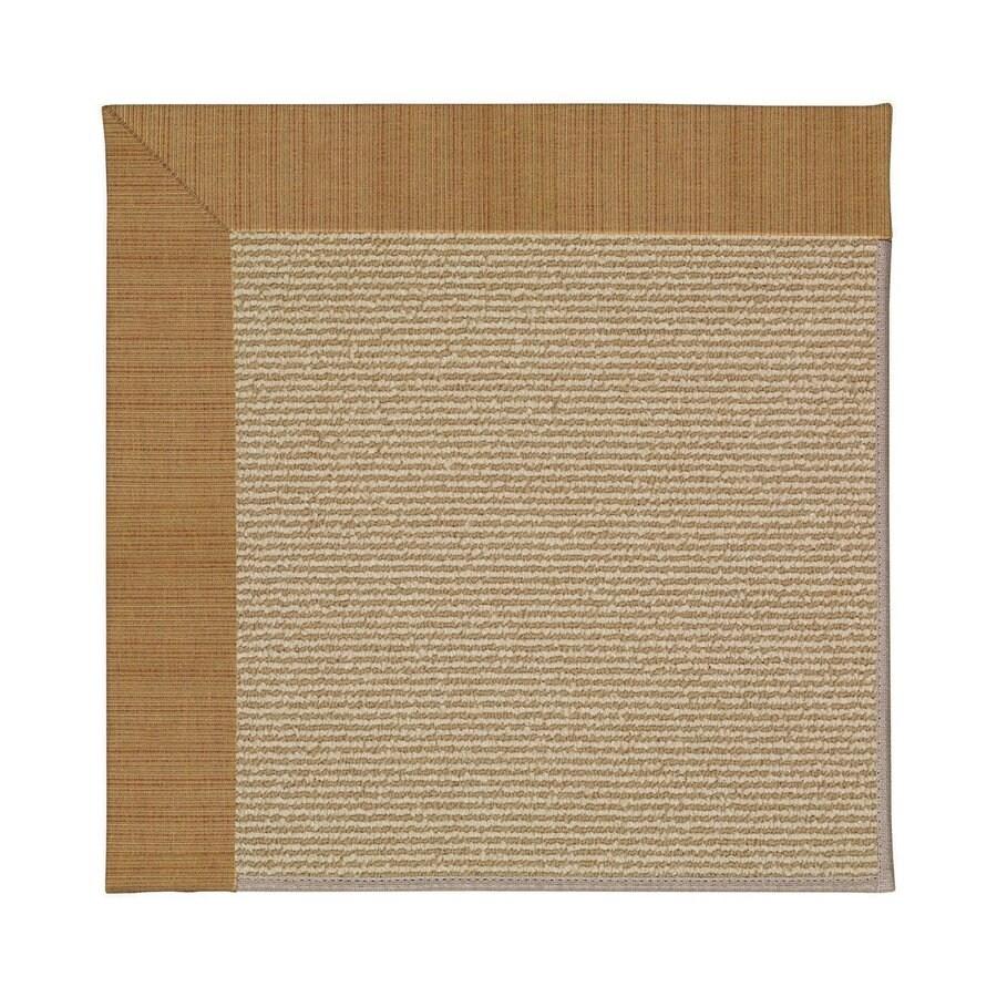 Capel Rugs Zoe-Sisal Golden Square Indoor/Outdoor Area Rug (Common: 6 x 6; Actual: 6-ft W x 6-ft L)
