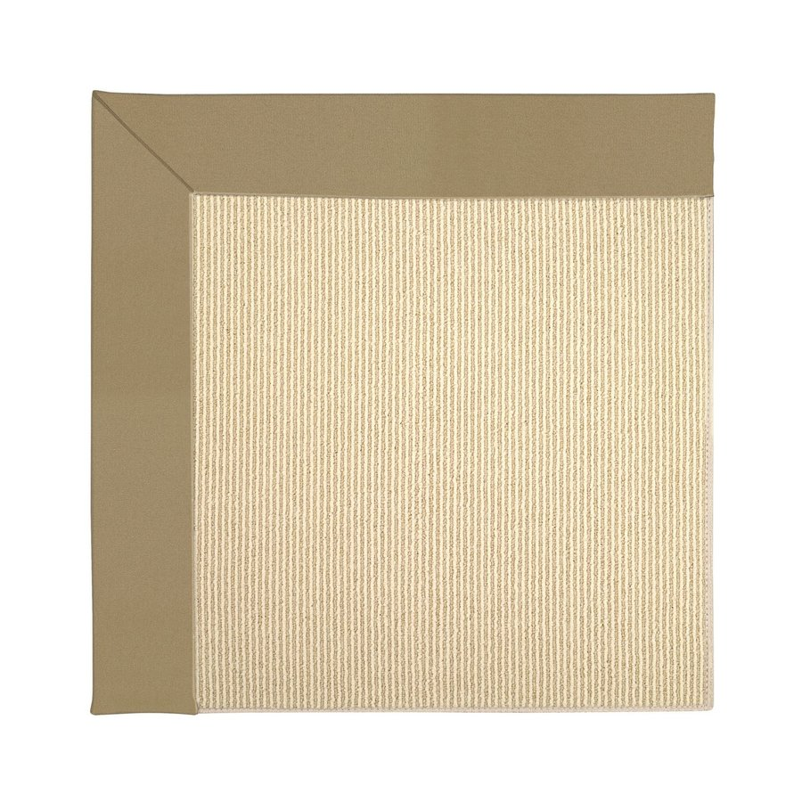 Capel Rugs Zoe-Beach Light Gold Square Indoor/Outdoor Area Rug (Common: 10 x 10; Actual: 10-ft W x 10-ft L)