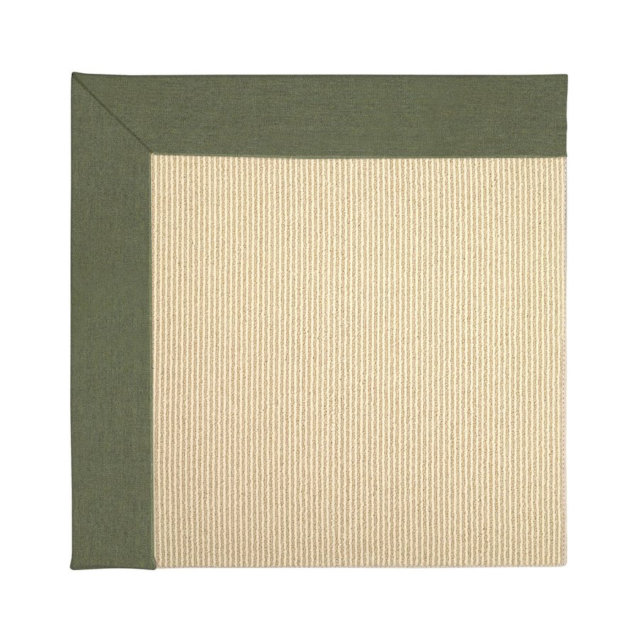 Capel Rugs Zoe-Beach Plant Green Square Indoor/Outdoor Area Rug (Common: 10 x 10; Actual: 10-ft W x 10-ft L)