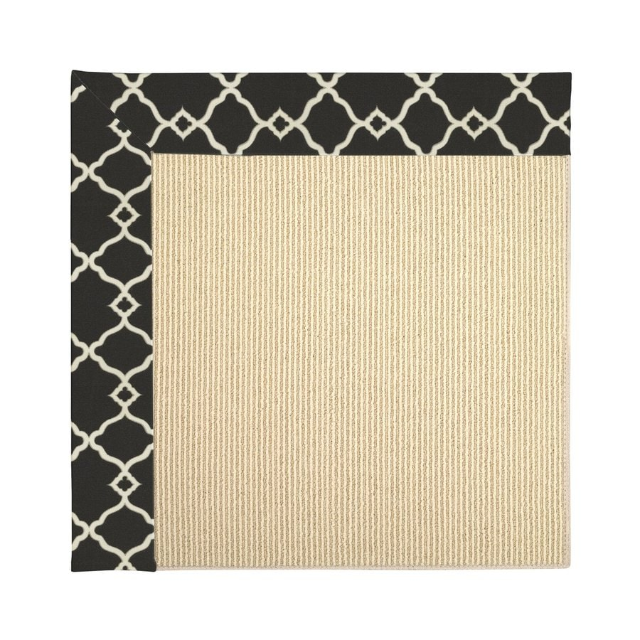 Capel Rugs Zoe-Beach Onyx Square Indoor/Outdoor Area Rug (Common: 10 x 10; Actual: 10-ft W x 10-ft L)