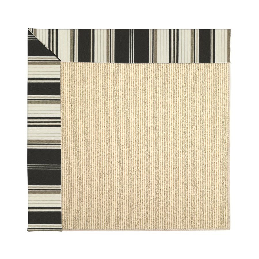Capel Rugs Zoe-Beach Onyx Stripe Square Indoor/Outdoor Area Rug (Common: 10 x 10; Actual: 10-ft W x 10-ft L)
