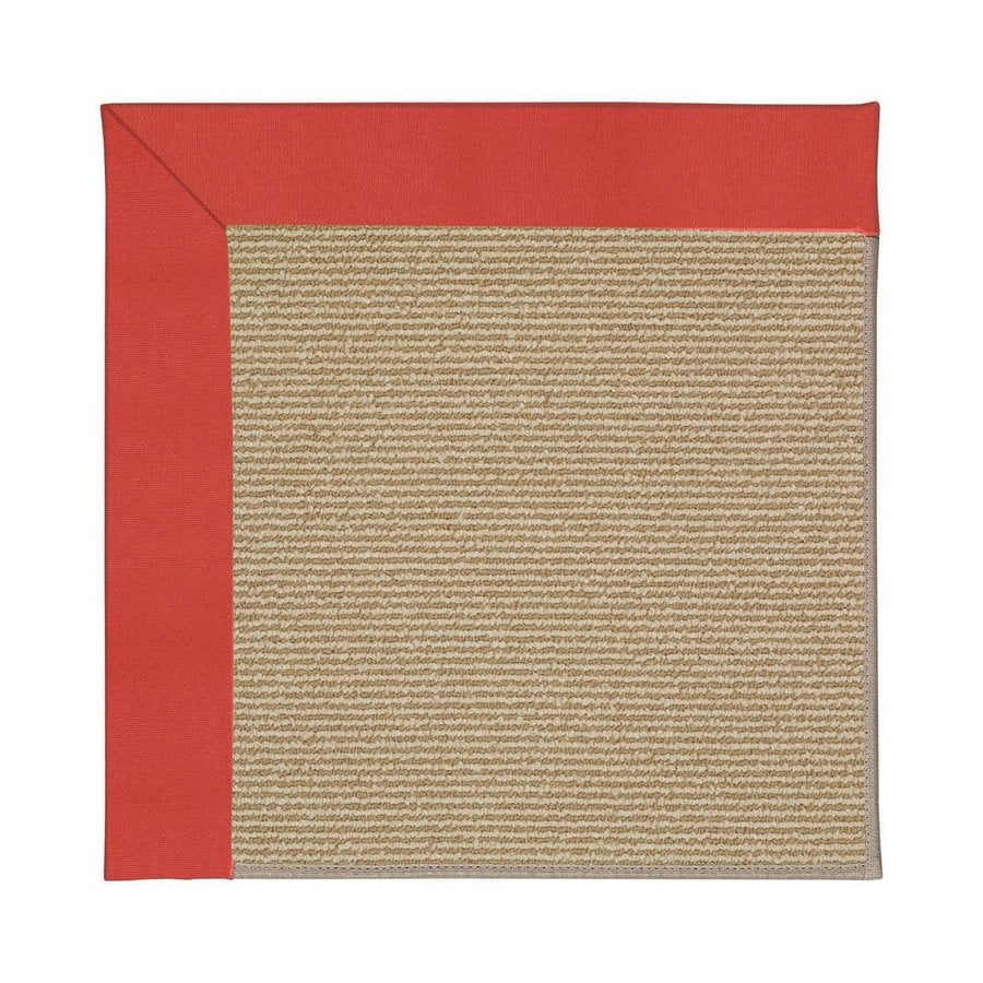 Capel Rugs Zoe-Sisal Sunset Red Square Indoor/Outdoor Area Rug (Common: 6 x 6; Actual: 6-ft W x 6-ft L)