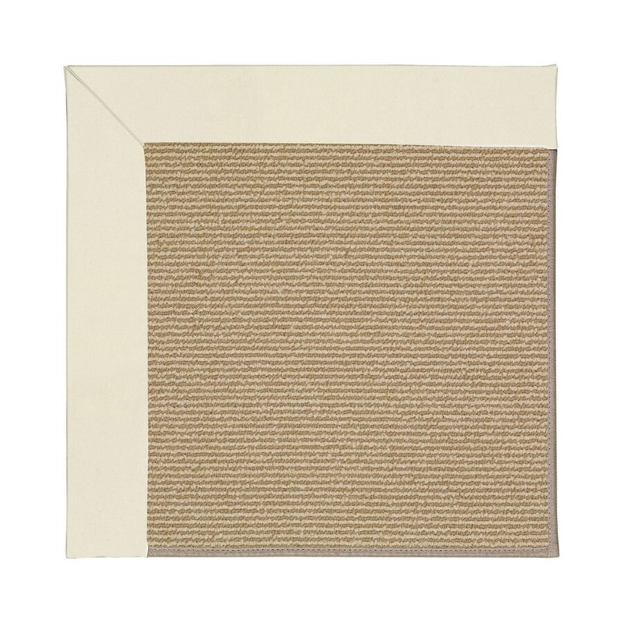 Capel Rugs Zoe-Sisal Alabaster Square Indoor/Outdoor Area Rug (Common: 6 x 6; Actual: 6-ft W x 6-ft L)