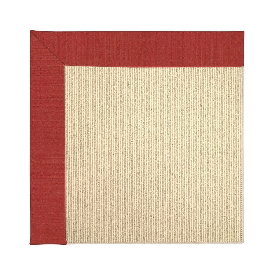 Capel Rugs Zoe-Beach Crimson Red Indoor/Outdoor Area Rug (Common: 4 x 6; Actual: 4-ft W x 6-ft L)