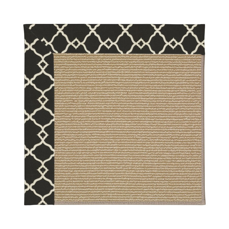 Capel Rugs Zoe-Sisal Onyx Square Indoor/Outdoor Area Rug (Common: 8 x 8; Actual: 8-ft W x 8-ft L)