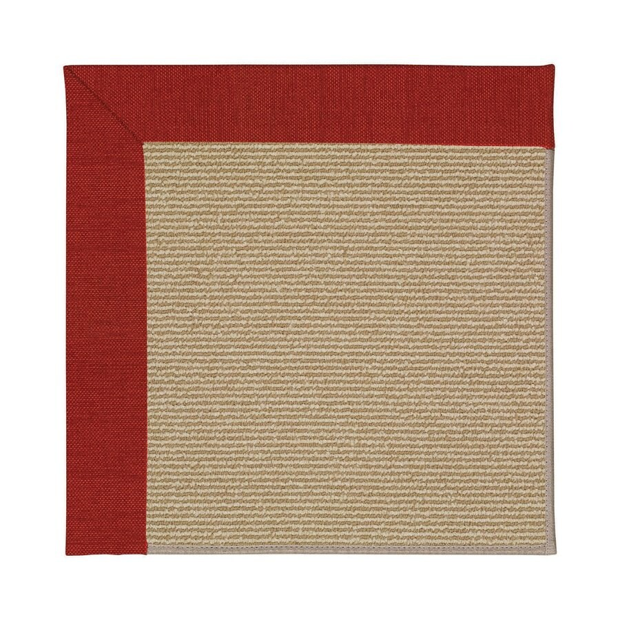 Capel Rugs Zoe-Sisal Tomatoes Square Indoor/Outdoor Area Rug (Common: 8 x 8; Actual: 8-ft W x 8-ft L)