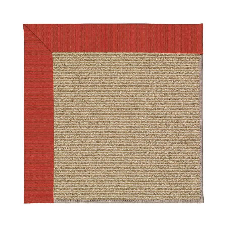 Capel Rugs Zoe-Sisal Apple Red Stripes Square Indoor/Outdoor Area Rug (Common: 8 x 8; Actual: 8-ft W x 8-ft L)