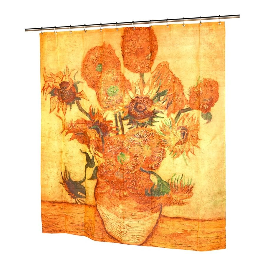 orange floral shower curtain. Carnation Home Fashions Sunflowers Polyester Yellow Orange Floral Shower  Curtain 72 In X 70 Shop