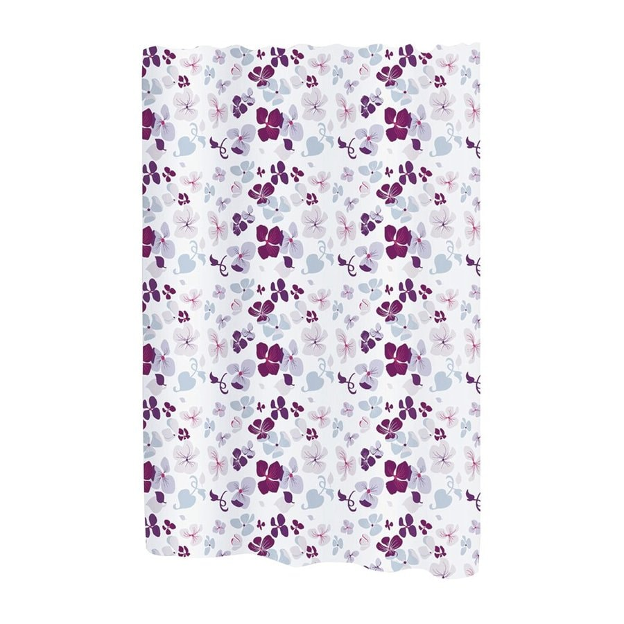 Carnation Home Fashions Joanne Polyester Pink Purple Floral Shower Curtain 108 In X 72