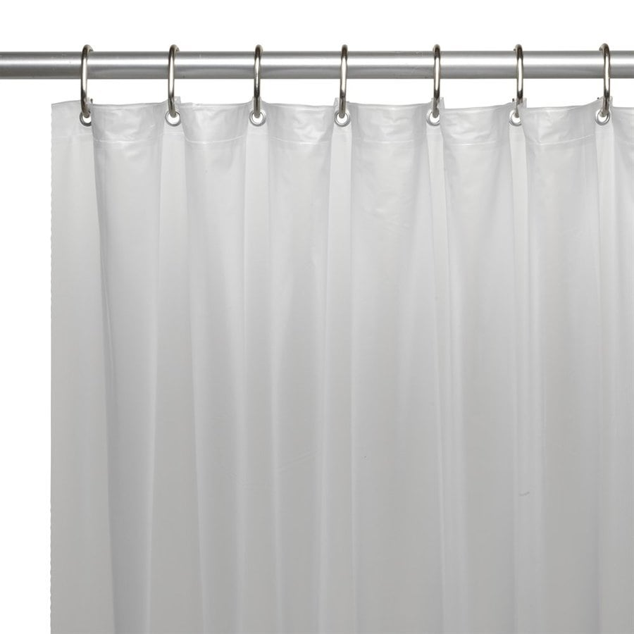 Carnation Home Fashions Vinyl Frosty Clear Solid Shower Liner
