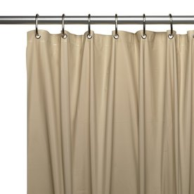 Carnation Home Fashions Vinyl Linen Solid Shower Liner 84 In X 72